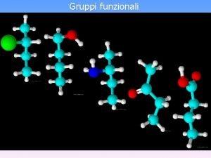 Gruppi funzionali Gruppi funzionali alogenoderivati Gruppo funzionale alcolico