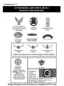 Attachment 7 1 AUTHORIZED AIR FORCE JROTC BADGES
