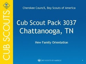 Cherokee Council Boy Scouts of America Cub Scout