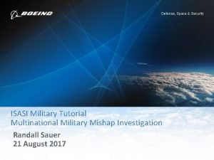 Defense Space Security ISASI Military Tutorial Multinational Military