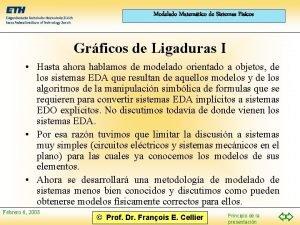 Modelado Matemtico de Sistemas Fsicos Grficos de Ligaduras