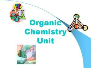 Organic Chemistry Unit What is Organic Chemistry The