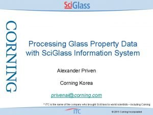 Processing Glass Property Data with Sci Glass Information
