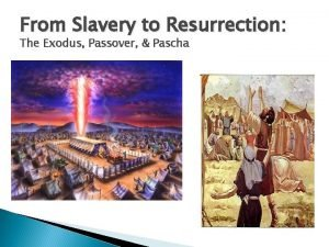 From Slavery to Resurrection The Exodus Passover Pascha