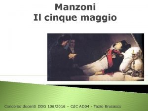 Manzoni Il cinque maggio Concorso docenti DDG 1062016