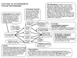 ANATOMY OF AN EXPERIMENT The Experiment The Munchy