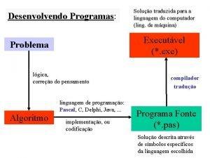 Desenvolvendo Programas Executvel exe Problema lgica correo do