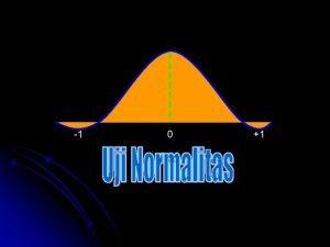 1 0 1 Uji Normalitas Untuk keperluan analisis