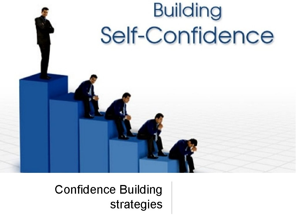 Confidence Building strategies Have confidence Self confidence is