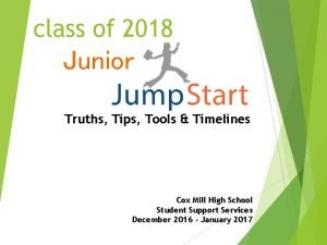 class of 2018 Junior Truths Tips Tools Timelines