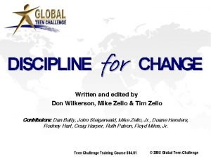 Written and edited by Don Wilkerson Mike Zello