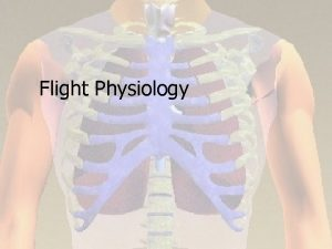 Flight Physiology Atmospheric Considerations n n n Composition