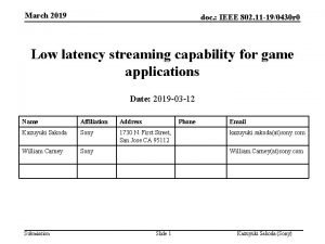 March 2019 doc IEEE 802 11 190430 r