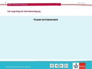 1 Folie 1 von 6 Leben im Deutschen