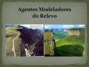 Agentes Modeladores do Relevo EROSO DO RELEVO A