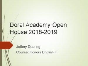 Doral Academy Open House 2018 2019 Jeffery Dearing
