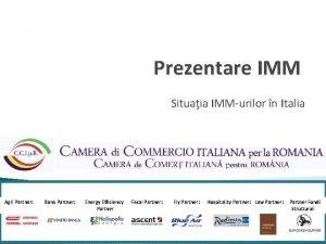 Prezentare IMM Situaia IMMurilor n Italia Agri Partner