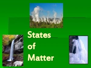 States of Matter Kinetic Molecular Theory Kinetic Energy