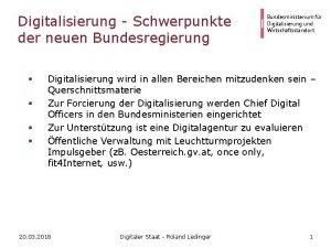 Digitalisierung Schwerpunkte der neuen Bundesregierung Bundesministerium fr Digitalisierung