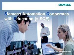 Siemens Automation Cooperates with Education SCE Siemens AG
