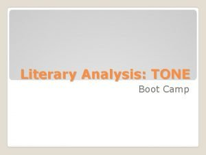 Literary Analysis TONE Boot Camp Diction Images Details