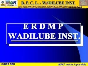 LUBES SBU WR ISO 9001 2008 ISO 14001