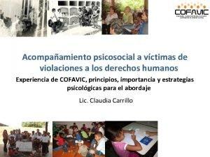 Acompaamiento psicosocial a vctimas de violaciones a los