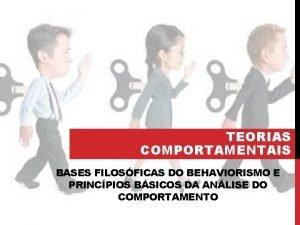 TEORIAS COMPORTAMENTAIS BASES FILOSFICAS DO BEHAVIORISMO E PRINCPIOS