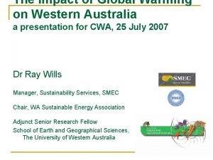 The Impact of Global Warming on Western Australia