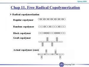 Spring 2008 Chap 11 Free Radical Copolymerization Radical