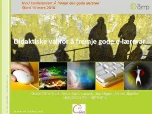 NVU konferansen fremje den gode lraren Stord 16