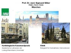 Prof Dr med Sigmund Silber FESC FACC FAHA