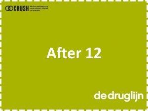 After 12 Gebeurt dit echt Filmpje Druglijn Foute
