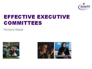 EFFECTIVE EXECUTIVE COMMITTEES Richard Wade What is the