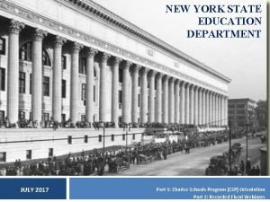 NEW YORK STATE EDUCATION DEPARTMENT JULY 2017 Part