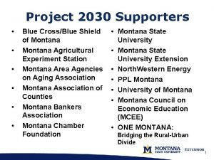 Project 2030 Supporters Blue CrossBlue Shield of Montana