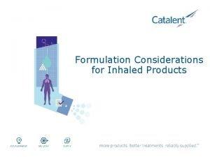 Formulation Considerations for Inhaled Products Formulation Considerations of