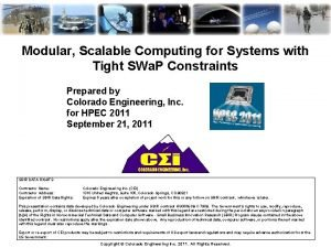 Modular Scalable Computing for Systems with Tight SWa