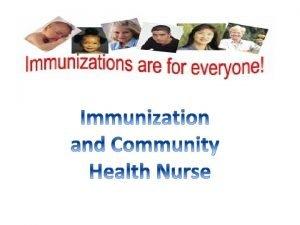 Introduction about immunization Definition of immunization Importance of