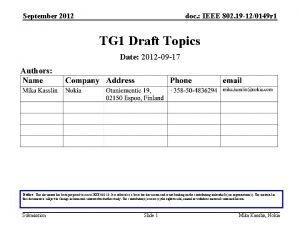 September 2012 doc IEEE 802 19 120149 r