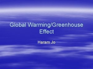 Global WarmingGreenhouse Effect Haram Jo Global Warming Global