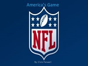 Americas Game By Chris Penwell Americas Game By