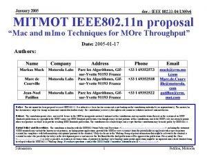 January 2005 doc IEEE 802 11 041369 r