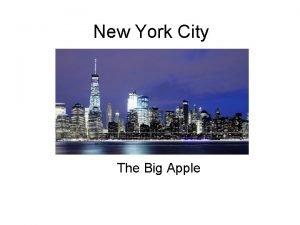 New York City The Big Apple BOROUGHS New