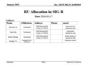 January 2015 doc IEEE 802 11 160039 r