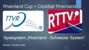 Rheinland Cup Click Ball Rheinland Cup Spielsystem Rheinland