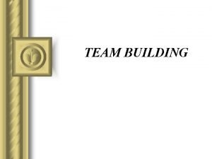 TEAM BUILDING What is team In a team