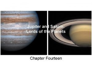 Jupiter and Saturn Lords of the Planets Chapter