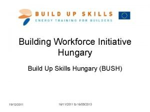 Building Workforce Initiative Hungary Build Up Skills Hungary