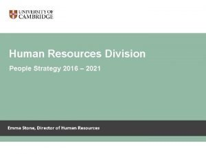 Human Resources Division Human Resources division People Strategy